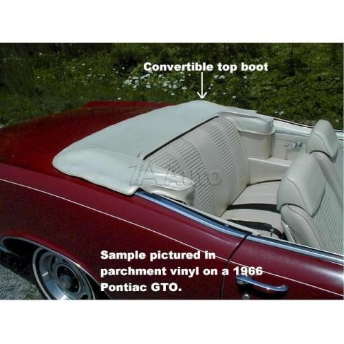 1965-68 LeSabre Bonneville Impala Convertible Top Boot With Plastic Slider