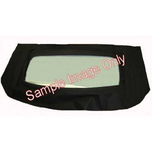 1967-70 Mustang Cougar Tinted Glass Window Only Folding With Zipper for Stayfast Cloth Top