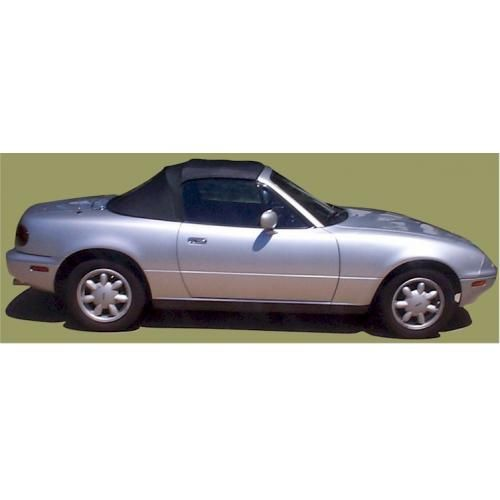 1990-97 Mazda Miata Convertible Top with Tinted Zip Down Glass Window in Stayfast Cloth