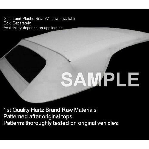 1973-79 VW Beetle Convertible Top in Stayfast Cloth With Plastic Rear Window