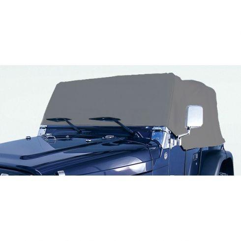 76-86 Jeep CJ Series; 87-, 97-95, 97-03 Jeep Wrangler Gray Weather Lite Cab Cover (Rugged Ridge)