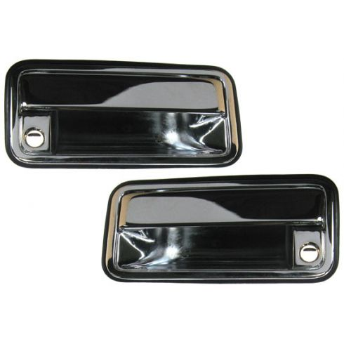 1988-94 GM Truck CHROME Outer Front Door Handle Pair