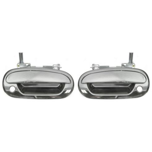 97-04 Ford F150 XL PU ALL CHRM Ext Frt Dr Hnd Pair