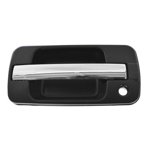 96-99 Acura SLX; 95-02 Isuzu Trooper 4dr Front Outside Black & Chrome Door Handle LF