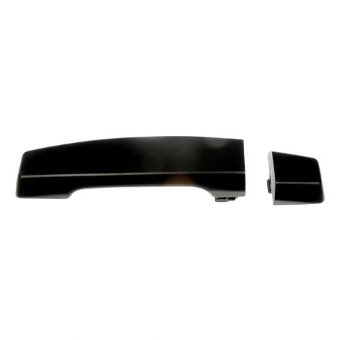 04-12 Nissan Titan Crew Cab Rear Outer Black Textured Door Handle w/Escutcheon LR = RR