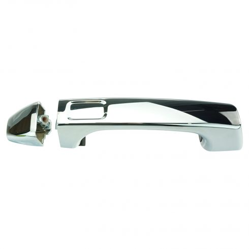 06-10 Hummer H3; 09-10 H3T All Chrome Outside Door Handle w/Cap LF = LR = RF = RR = Tailgate