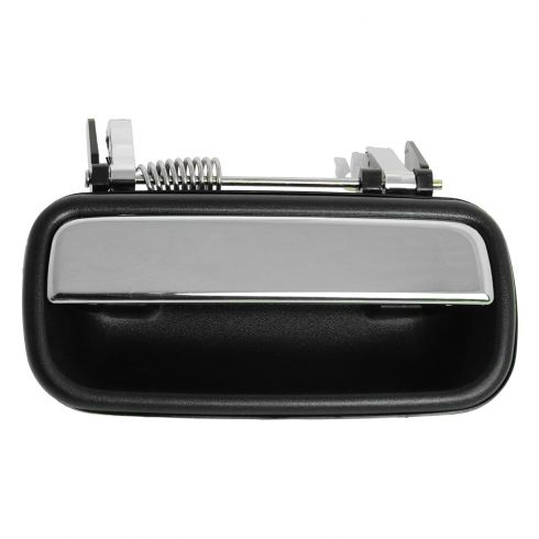 01-04 Toyota Tacoma Crew Cab Black w/Chrome Pull Lever Rear Outside Door Handle LR