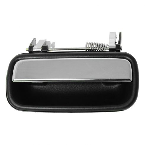 01-04 Toyota Tacoma Crew Cab Black w/Chrome Pull Lever Rear Outside Door Handle RR