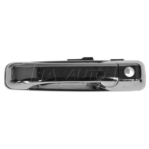 06-10 Jeep Commander; 05-10 Grand Cherokee Front Chrome Outside Door Handle w/Keyhole LF (Dorman)