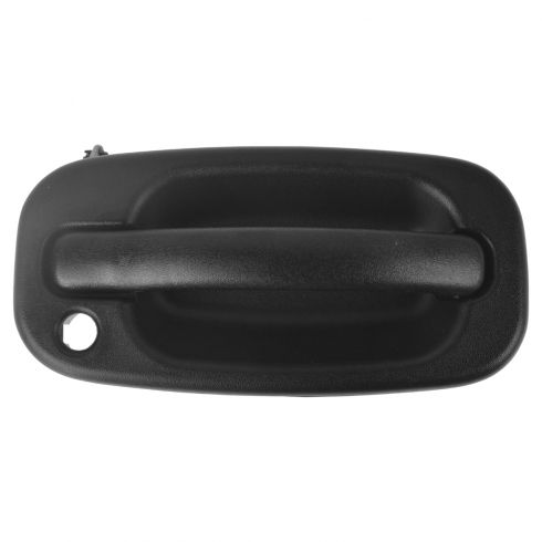 99-07 Silverado, Sierra; 00-06 FS SUV Front Text Black Outer Door Handle w/Lock Prov RF (GM)