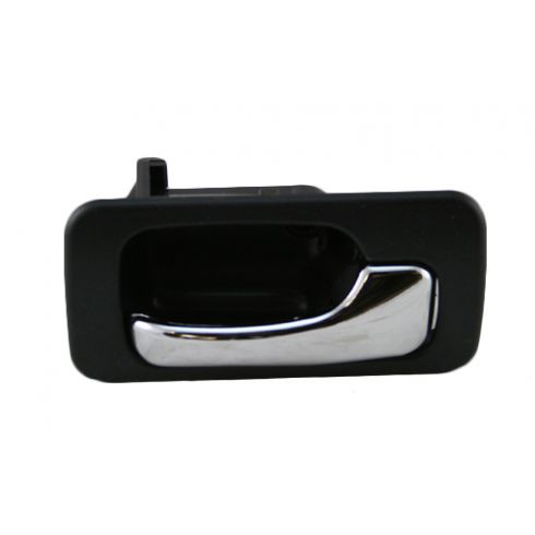 90-93 Honda Accord Inner Rear Door Handle Man Locks Black Plastic RR