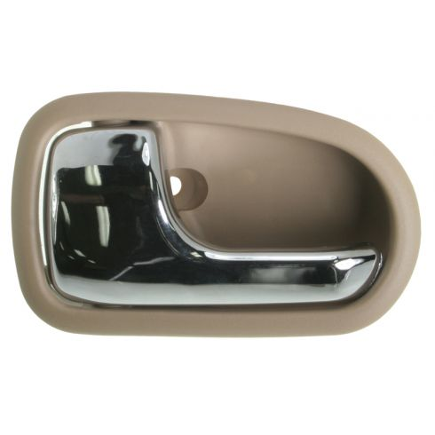 1995-03 Mazda Protege Chrome & Lt Brown Inside Door handle LF & LR