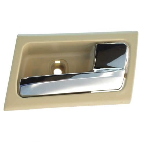 06-11 Ford Crown Victoria, Mercury Grand Marquis Inner Camel & Chrome Door Handle RF = RR