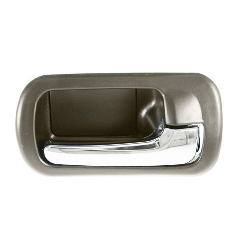 01-05 Honda Civic Rear Inner Chrome & Brown Door Handle RR