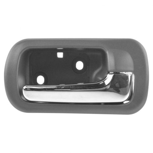 01-05 Honda Civic Rear Inner Chrome & Taupe Door Handle RR