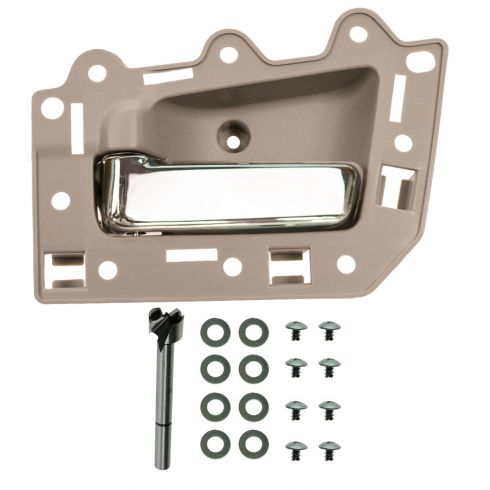 05-10 Jeep Grand Cherokee Front Inner Beige & Chrome Door Handle Repair Kit LF