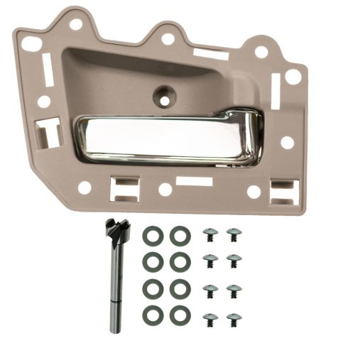 05-10 Jeep Grand Cherokee Front Inner Beige & Chrome Door Handle Repair Kit RF