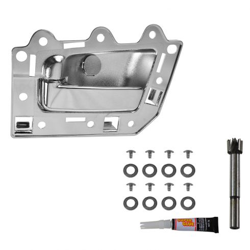 05-10 Jeep Grand Cherokee; 06-10 Commander Rear ALL CHROME Inside Door Handle Repair Kit LR