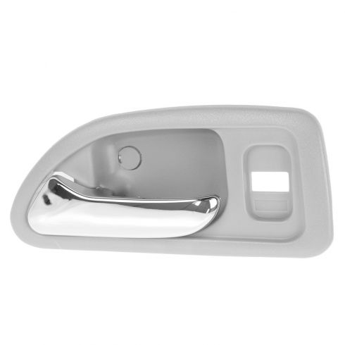 94-97 Honda Accord 4DR (w/Power Locks) Front (Light Gray w/Chrome Lever) Inside Door Handle LF