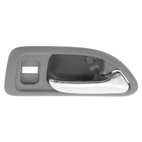 94-97 Honda Accord 4DR (w/Power Locks) Front (Light Gray w/Chrome Lever) Inside Door Handle RF