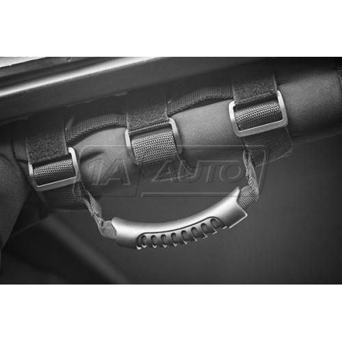55-86 Jeep CJ Series; 87-14 Wrangler (w/2 to 3 Inch Roll Bars) Ultimate Black Grab Bar Handle PAIR