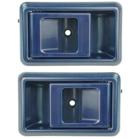 1988-92 Prizm 4Runner Corolla Inside Door Handle Blue Pair