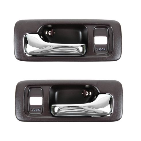 4dr with Power Locks Red Inside Door Handle Pair