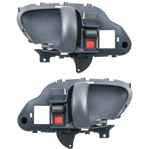 1995-02 Chevy GMC Pickup Tahoe Yukon Suburban Blue Inside Door Handle Pair