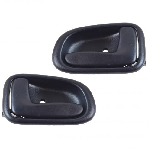 1993-97 Toyota Corolla 4dr Inside Blue Front or Rear Door Handle Pair