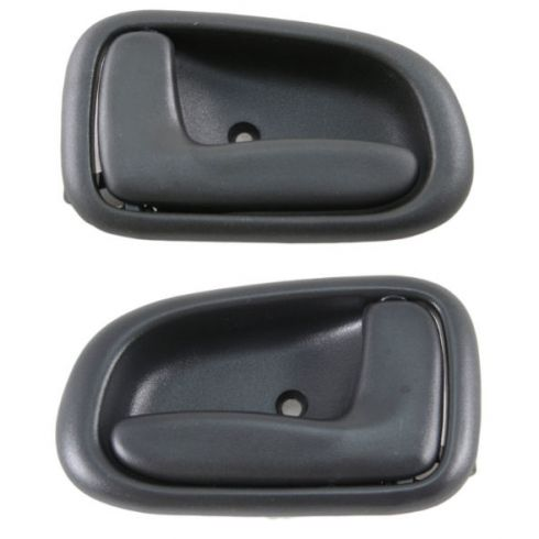 1993-97 Toyota Corolla 4dr Inside Gray Front or Rear Door Handle Pair