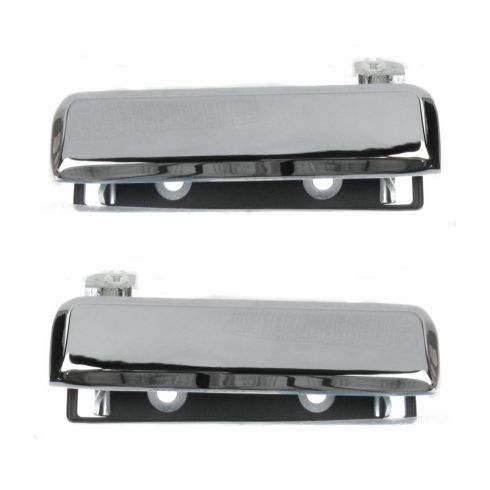 1979-91 Mustang Exterior Door Handle Chrome Pair