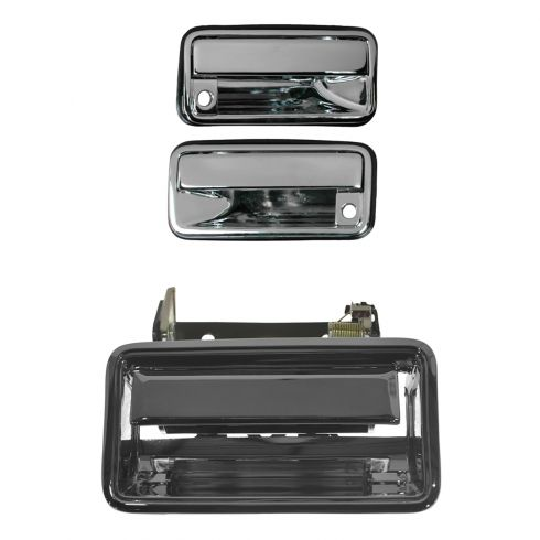 GM Truck CHROME Outer Front Door Handle Pair
