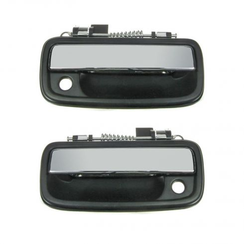 95-04 Toyota Tacoma Ext Door Handle Black/Chrome Pair