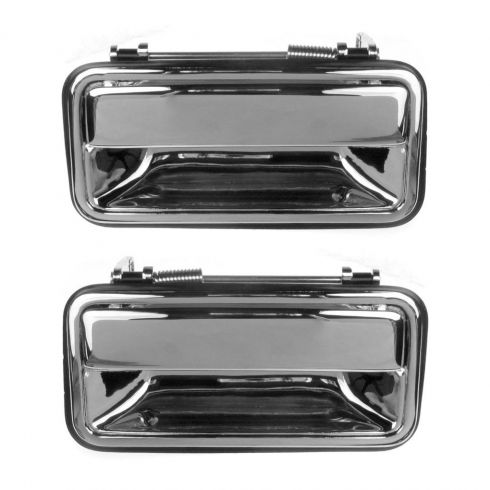 Door Handle Outer Rear Chrome Pair