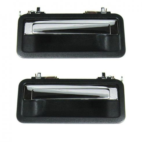 91-96 Caprice Ext Door Handle Chrome w/Black Textured Bezel Pair