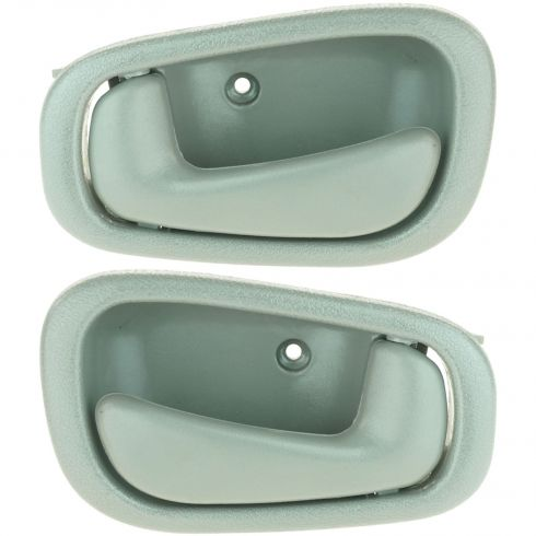 98-03 Corolla Prizm Door Handle Int Gray Manual Lock Pair