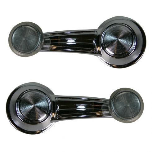 Electra Impala Fleetwood Window Crank Handle Chrome with clear knob