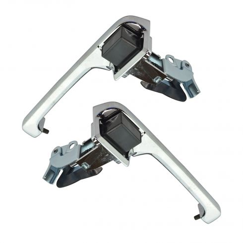 Exterior Door Handle Chrome Pair