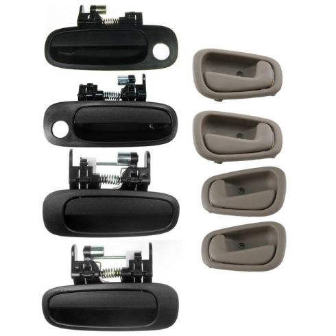 98-02 Toyota Corolla Inner (Tan) & Outer Door Handle (SET of 8)