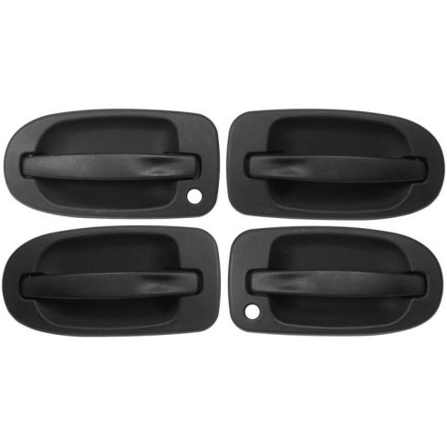 97-09 GM Mini Van Multifit Outside Sliding Door Handle Black Set of 4
