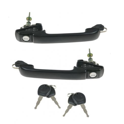 93-99 VW Jetta Golf Front Outside Door Handle w/Key PAIR