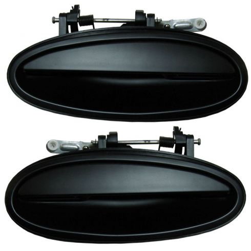 97-05 Buick Park Ave; 97-99 Riviera; Olds Aurora Smooth Blk Ext Door Handle Rear PAIR