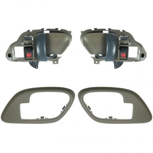 1995-02 Chev PU Truck Int Door Handles & Bezels TAN Pair