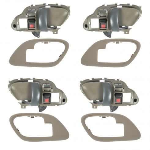 1995-02 Chev PU Truck Int Door Handles & Bezels TAN Set of 4