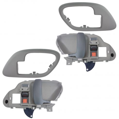 1995-02 Chev PU Truck Int Door Handle & Bezel Gray Set PAIR
