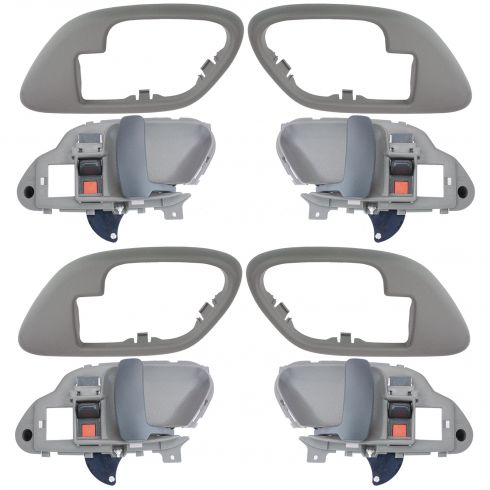 1995-02 Chev PU Truck Int Door Handle & Bezel Gray Set of 4