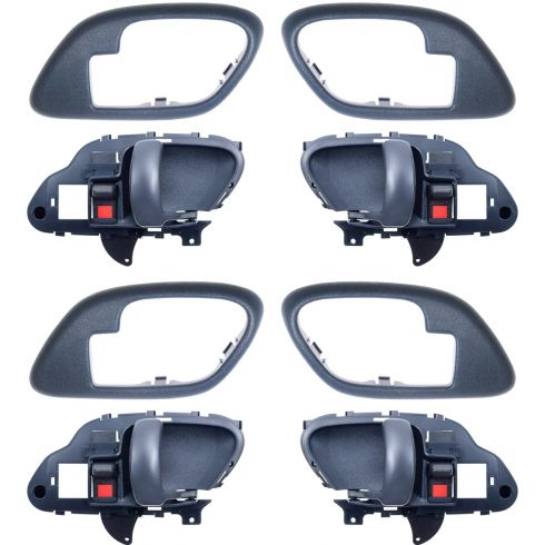 1995-02 Chev PU Truck Int Door Handle & Bezel Blue Set of 4