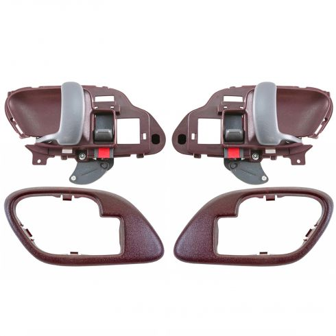 1995-02 Chev PU Truck Int Door Handle & Bezel Red Set PAIR