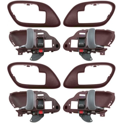 1995-02 Chev PU Truck Int Door Handle & Bezel Red Set of 4