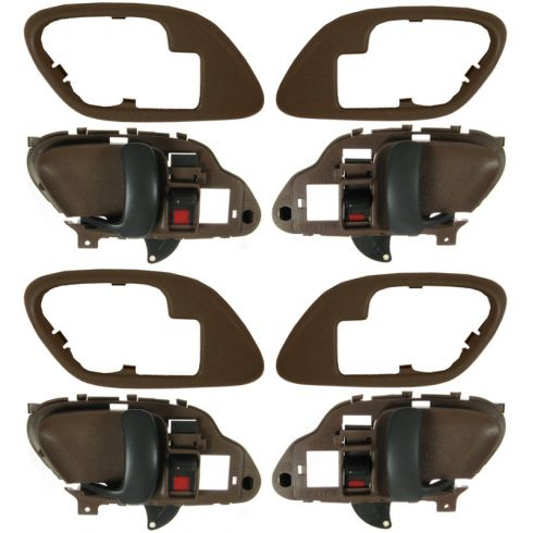 1995-02 Chev PU Truck Int Door Handle & Bezel Brown Set of 4